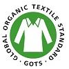 Ikon for GOTS-certificering af økologisk stof